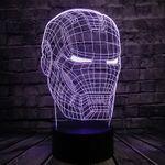 3D Лампа Железный человек