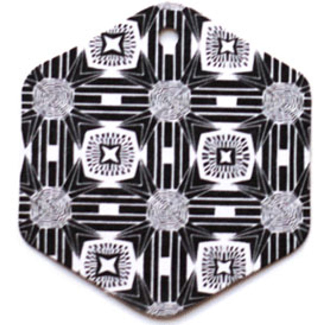 Бирка упаковочная Ар деко — шестигранник