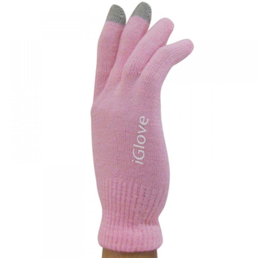 Перчатки для сенсорного экрана Розовые