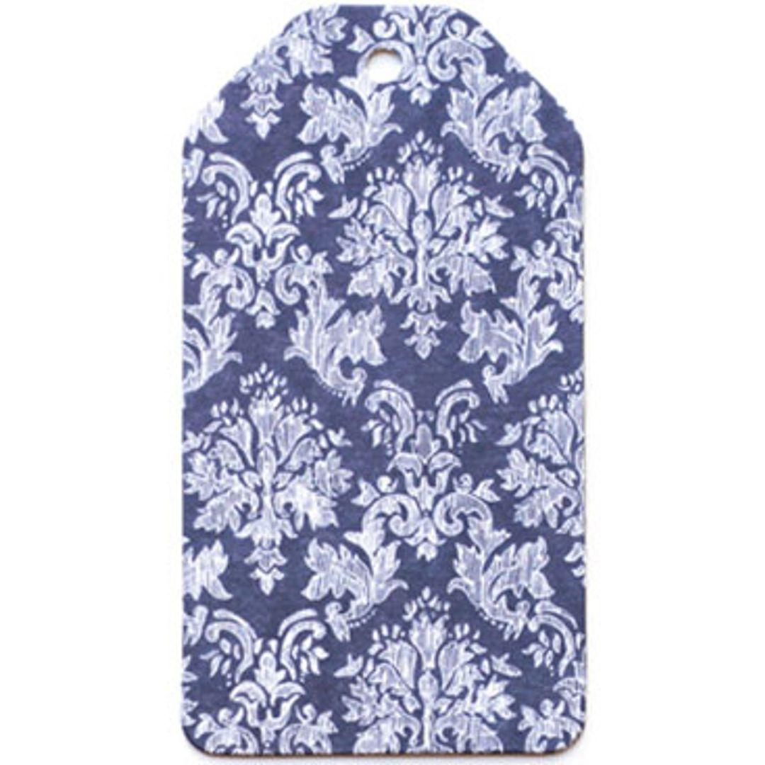Бирка упаковочная Барокко — синий погон