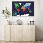 Скретч-карта мира Afi Design Blue (84х60 см, на английском)