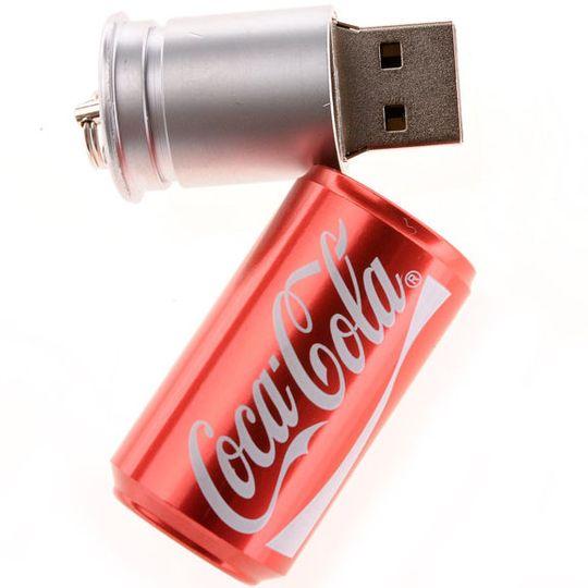 Флешка Банка Coca-Cola 16 Гб Вынута из футляра