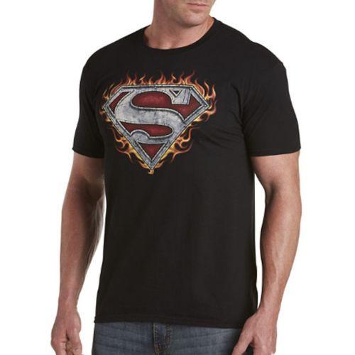 Мужская футболка Супермен в огне