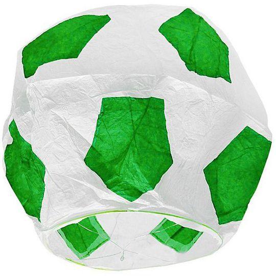 Летающий фонарик Футбольный мяч (Зеленый с белым)