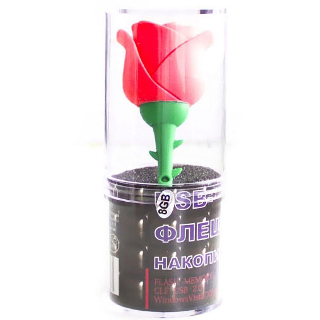 Флешка Роза 16 Гб Красный