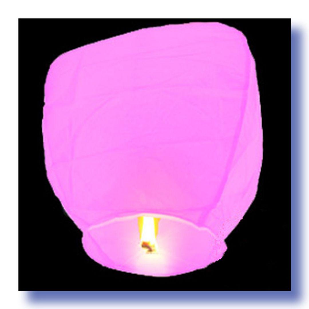 Летающий фонарик Розовый