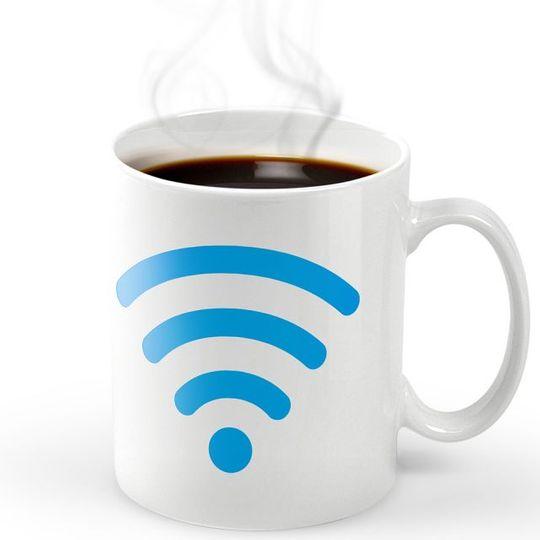 Термокружка Wi-Fi Hot Spot С горячим напитком внутри