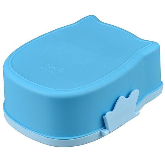Ланч-бокс Сова Owl (Голубой) Дно контейнера