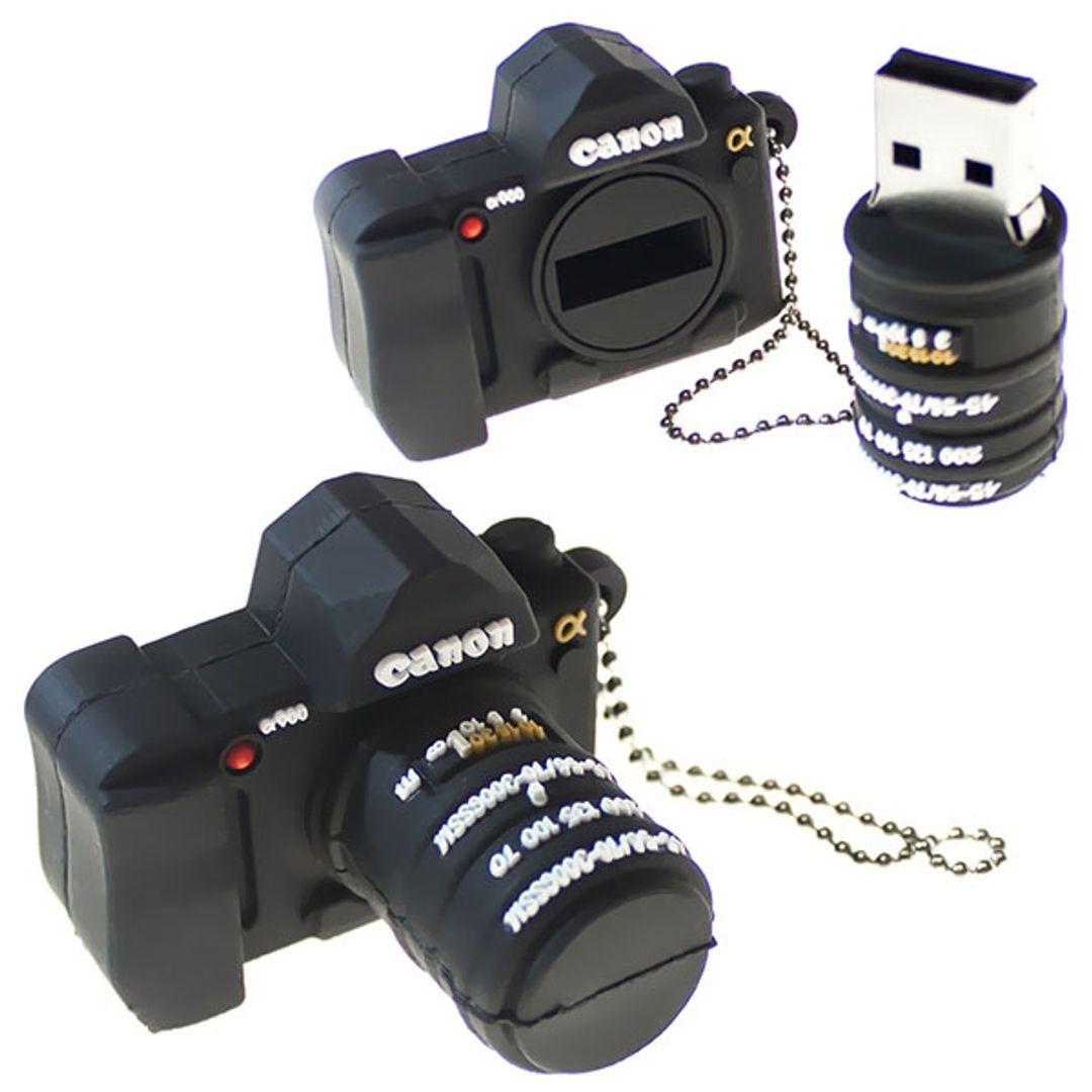 Флешка Фотоаппарат Canon 16 Гб В открытом и закрытом виде