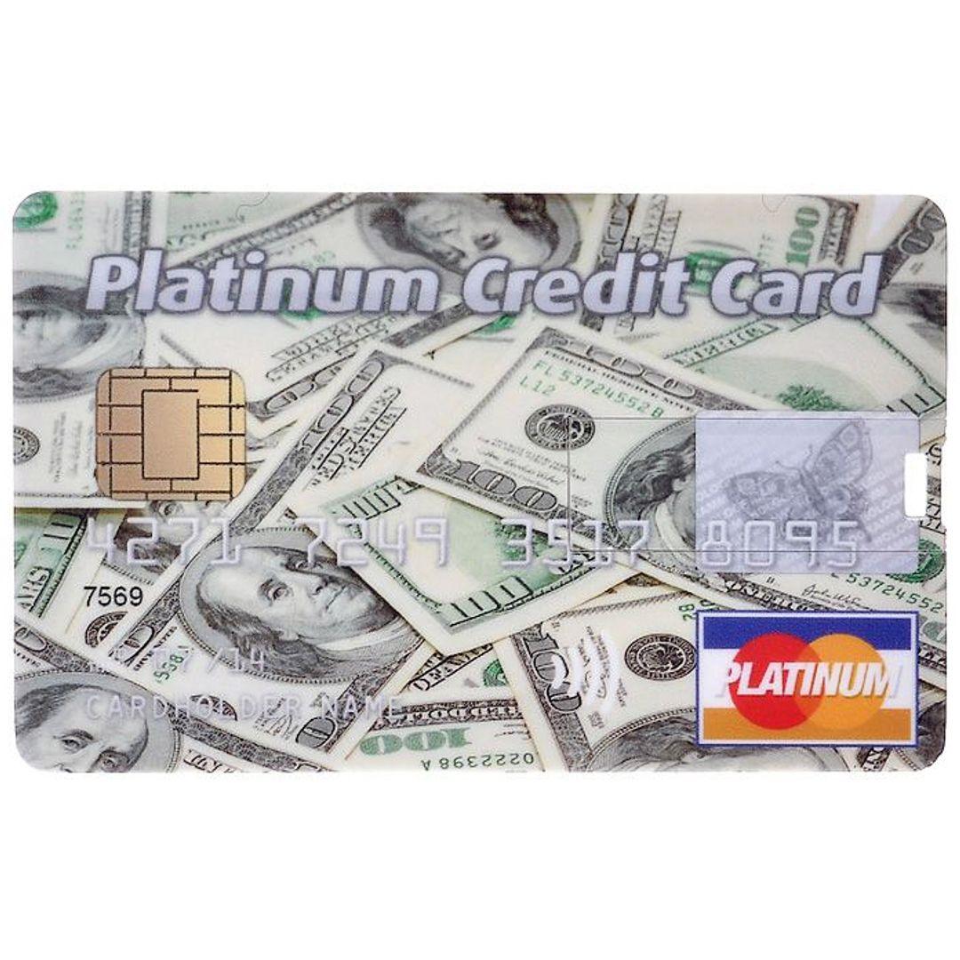 Флешка Кредитка Platinum Credit Card 8 Гб Лицевая сторона