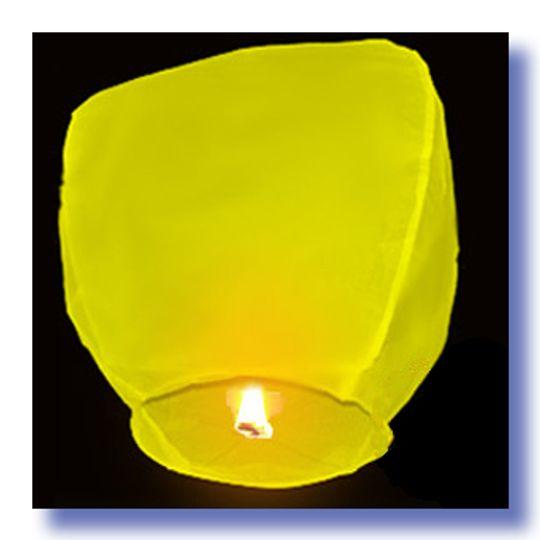 Летающий фонарик Желтый