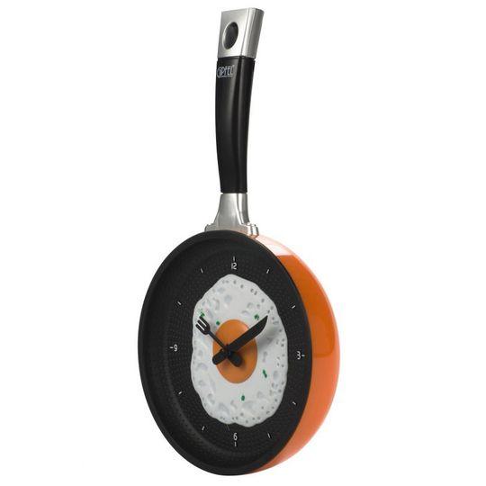 Часы Сковородка (Оранжевый)