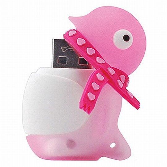 Флешка Пингвин Розовый 8 Гб