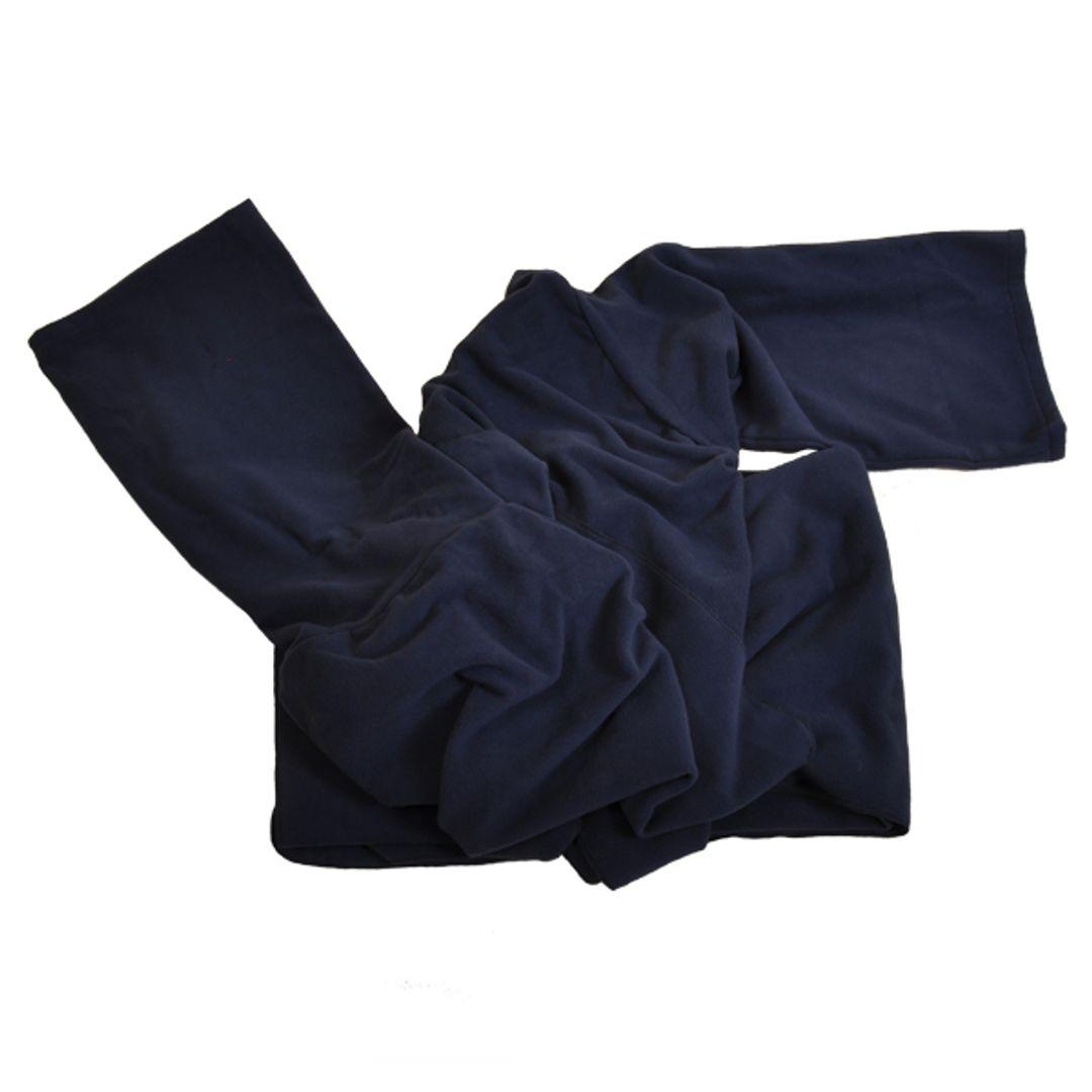 Плед с рукавами Темно-синий