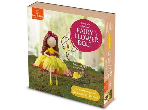 Набор для творчества Куколка своими руками Продавщица цветов