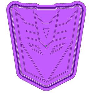 Форма для печенья Transformers Десептиконы (эмблема)