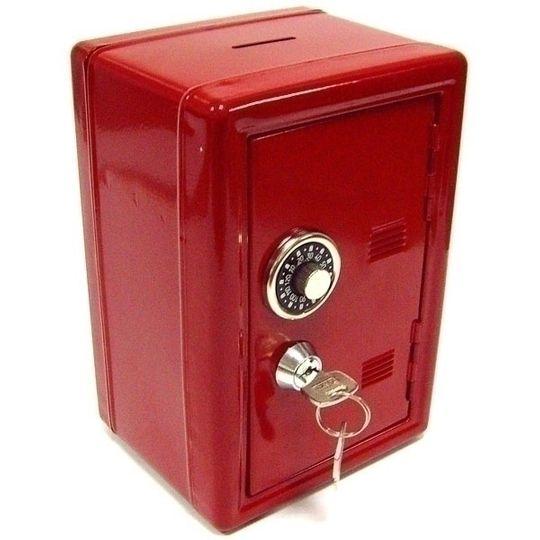 Копилка Металлический сейф (Красный)