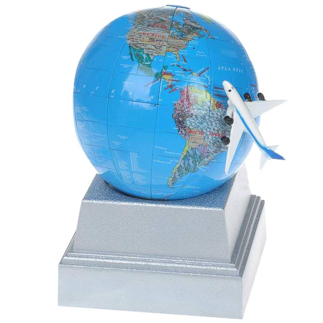 Вращающийся Глобус Полет над Землей