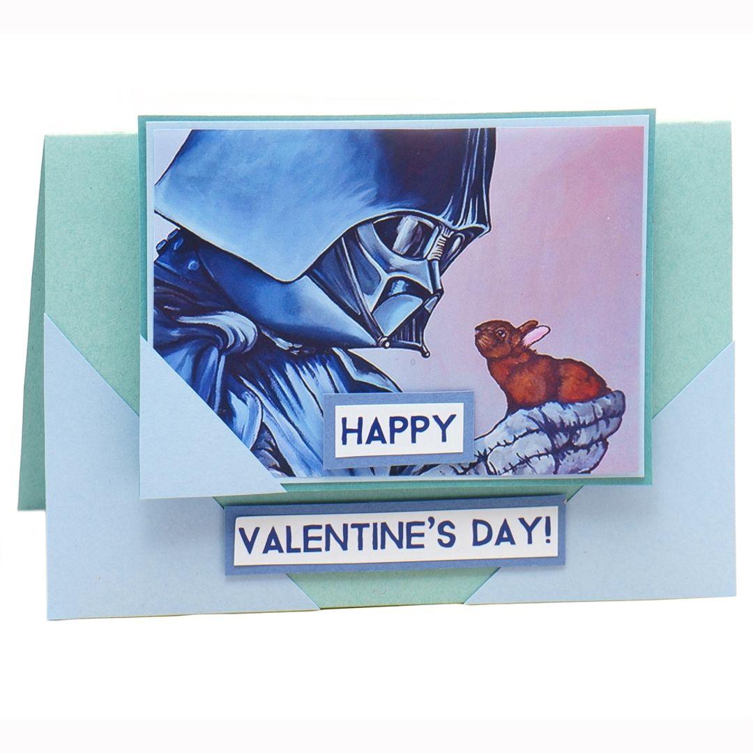 Открытка Happy Valentine's Day Дарт Вейдер