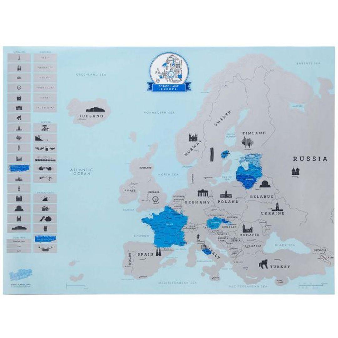 Скрэтч-карта Европы (на английском)