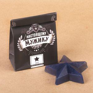 Мыло Настоящему мужику Звезда (черный чай и бамбук)