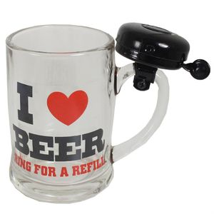 Кружка со звонком I Love Beer