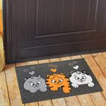 Коврик для входной двери Три кота