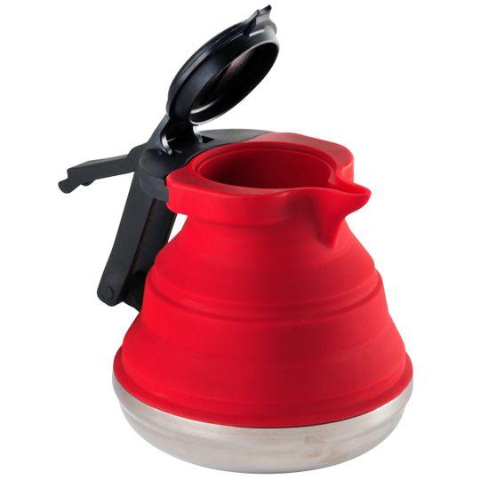 Складной силиконовый чайник Folding Kettle (Красный)