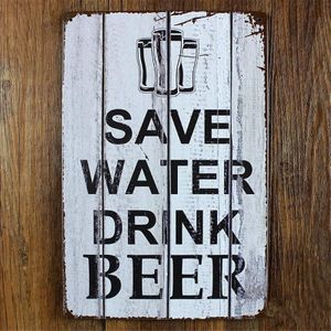 Металлическая табличка Save Water Drink Beer