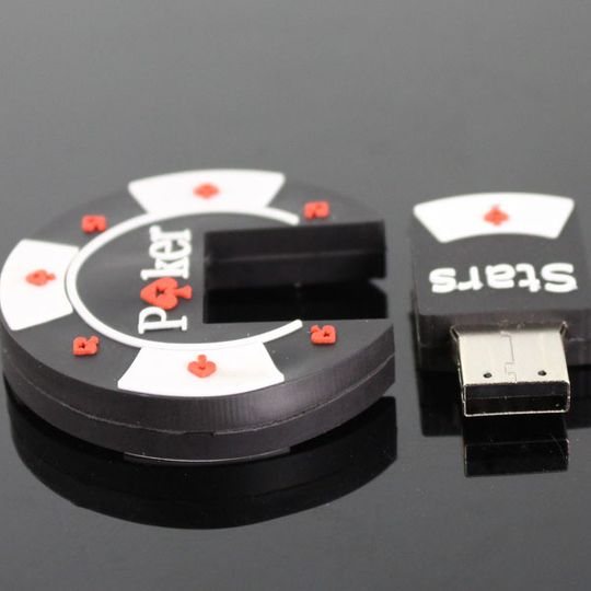 Флешка Покер Poker Stars 8 Гб Со снятой крышкой