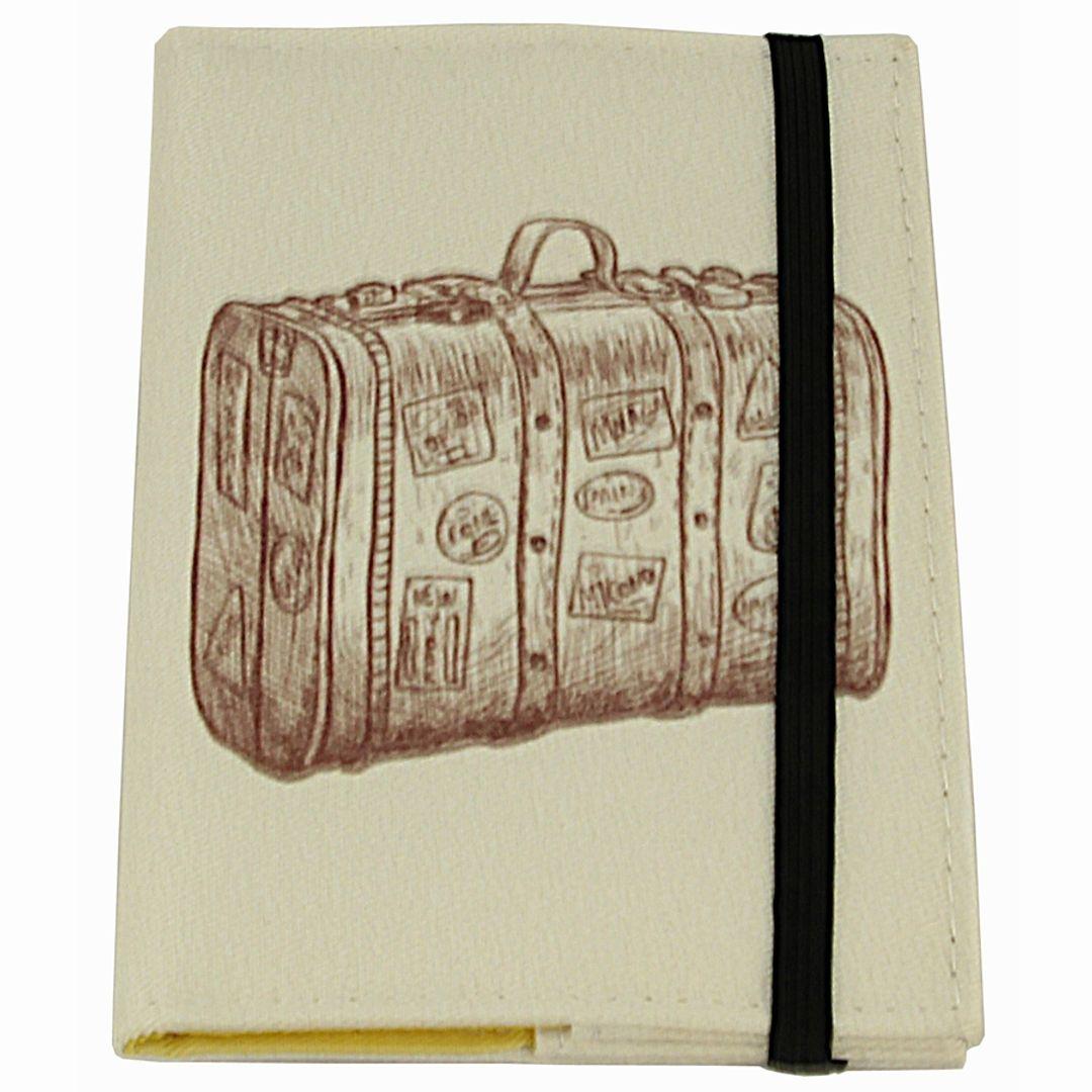 Обложка для паспорта Suitcase Фиксируется резинкой сверху