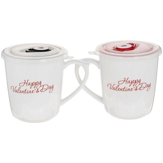 Набор чашек Влюбленная пара С обратной стороны надпись