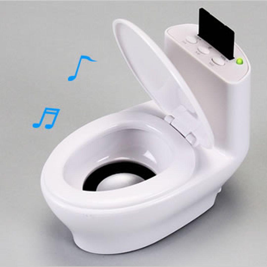 MP3 плеер с динамиком Унитаз