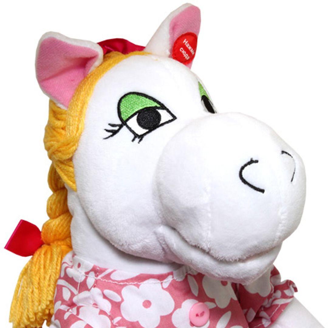 Музыкальная игрушка Белая лошадка Крупным планом