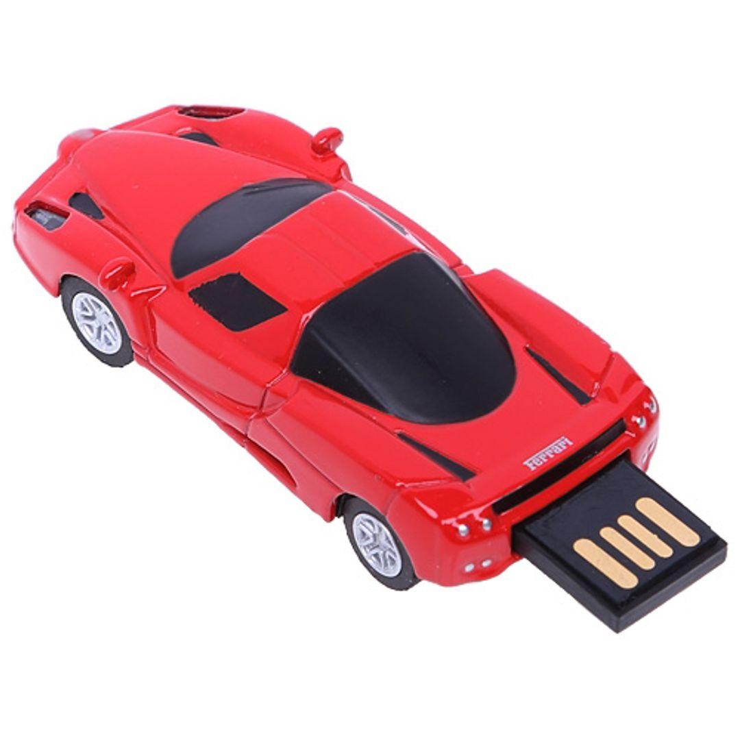 Флешка Ferrari 8 Гб (Красный) С выдвинутым носителем