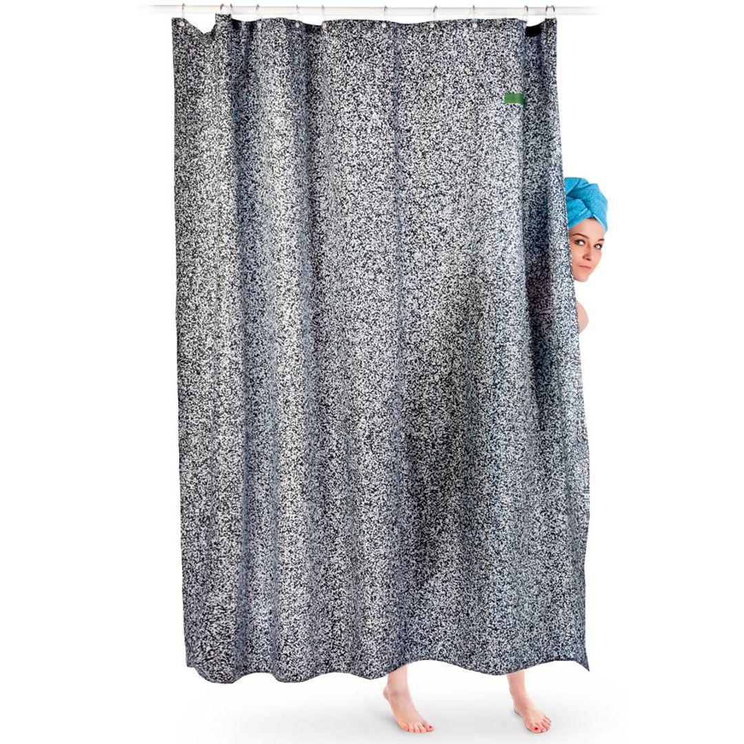 Шторка для ванной Белый шум