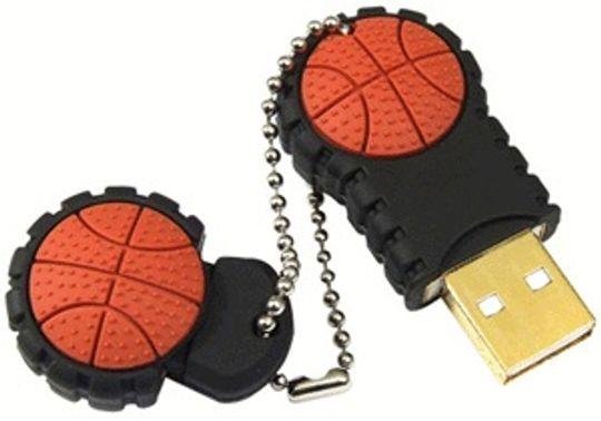 Флешка Баскетбольный мяч пополам 2 Гб