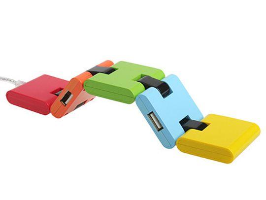 USB Хаб Змейка Квадратная