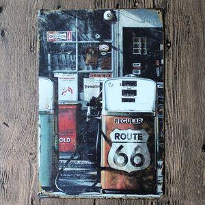 Металлическая табличка Route 66