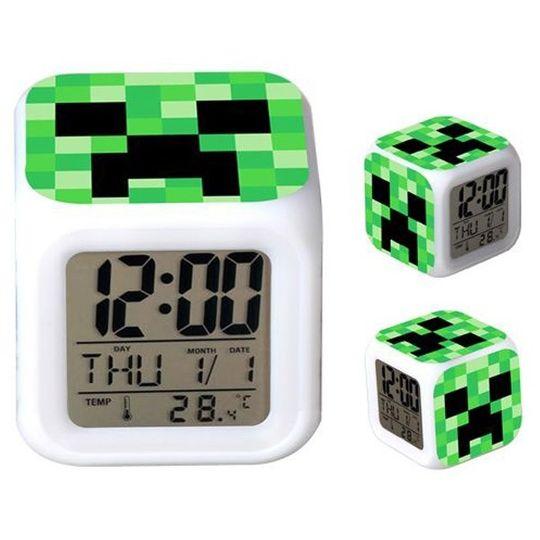 Будильник с подсветкой Minecraft Creeper