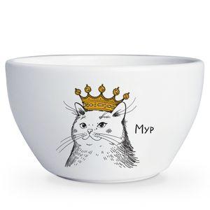 Тарелка глубокая Кошка в короне Мур
