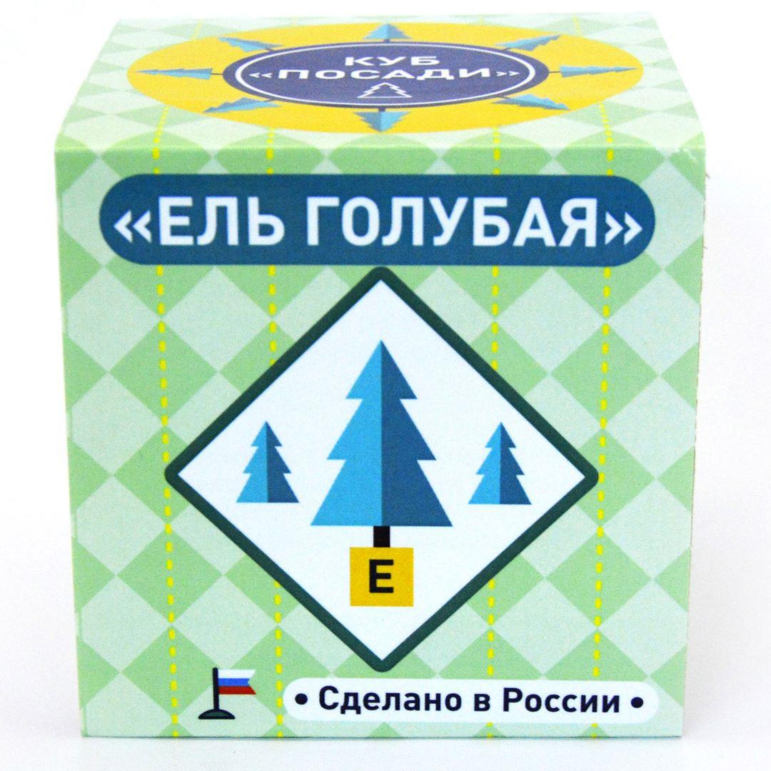 Набор для выращивания Ель голубая (колючая) Упаковка-инструкция