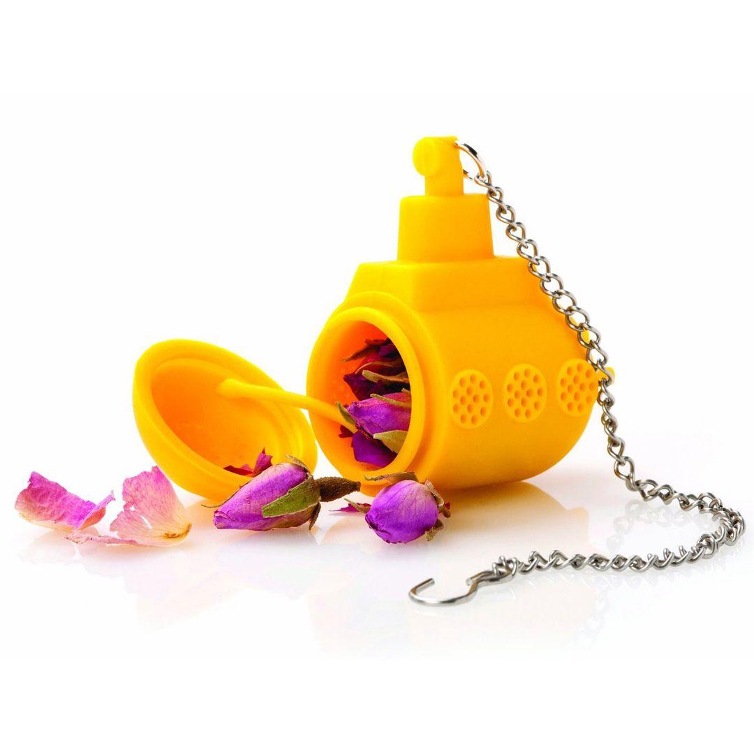 Заварник для чая Подводная лодка (Желтый) Открытый, с бутонами роз