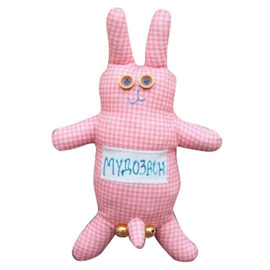Игрушка Мудозвон розовый в клеточку
