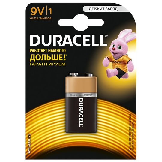 Батарейка Duracell Крона (6LF22)