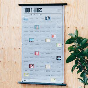 Плакат 100 вещей, которые нужно сделать в жизни