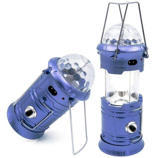 Кемпинговый фонарь-светильник с диско-шаром Camping Lantern (Синий)