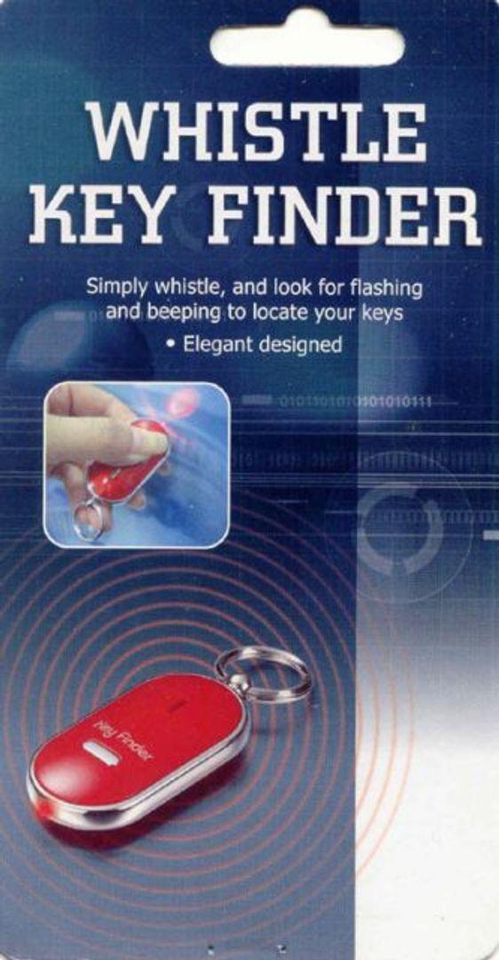 Брелок для поиска ключей с фонариком Черный
