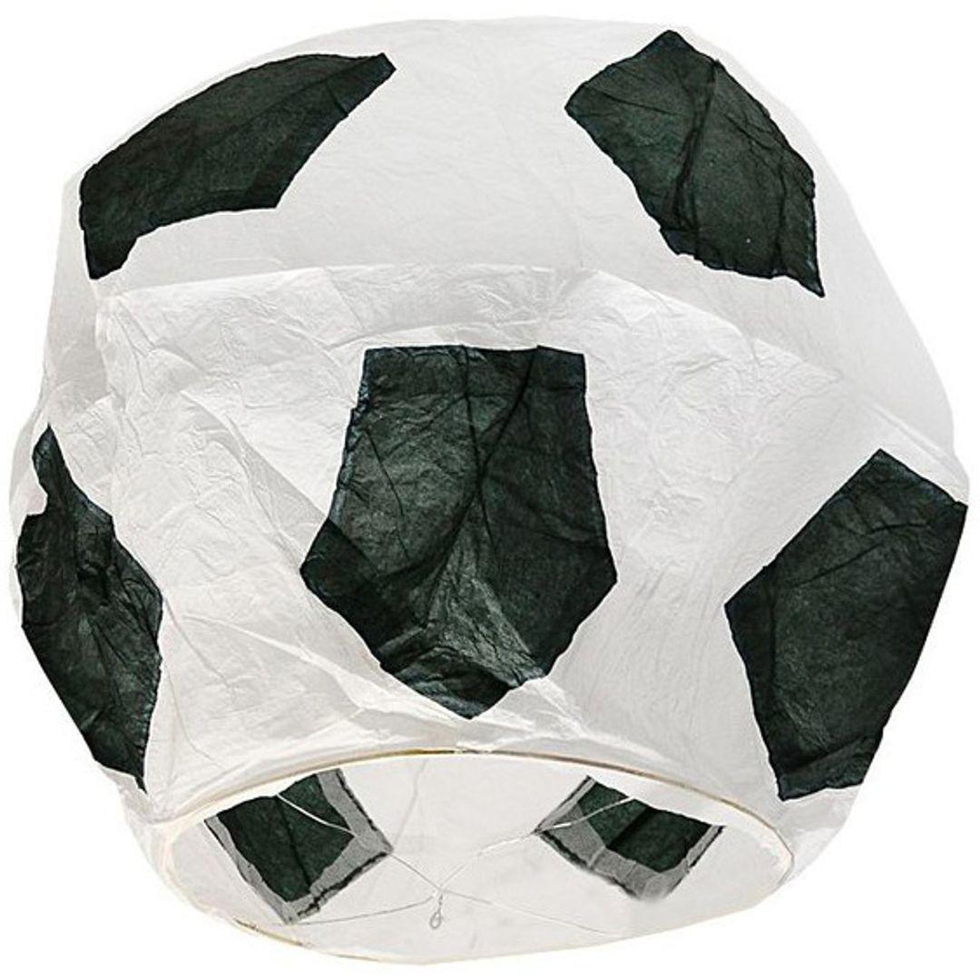 Летающий фонарик Футбольный мяч (Черный с белым)