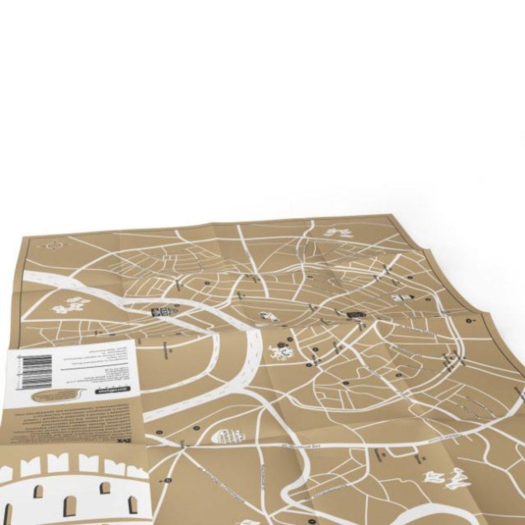 Путеводитель Средневековая Москва В развернутом виде, сторона с картой